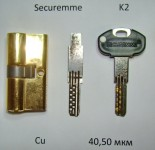 Отмычка самоимпрессия для Securemme K2